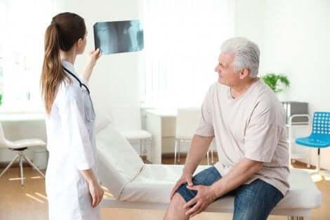 Radiographie du genou.