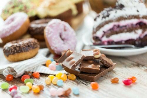 Assortiment de sucreries et confiseries.