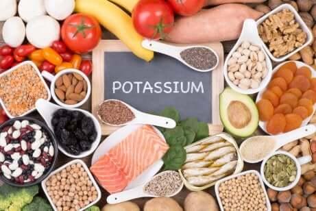 Aliments riches en potassium.