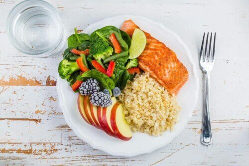 Assiette adaptée à des sportifs diabétiques.