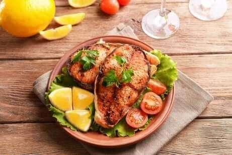 Une recette de saumon.