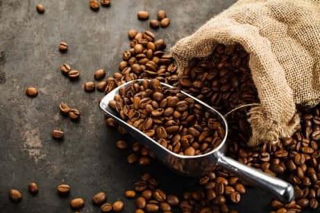 Grains de café.
