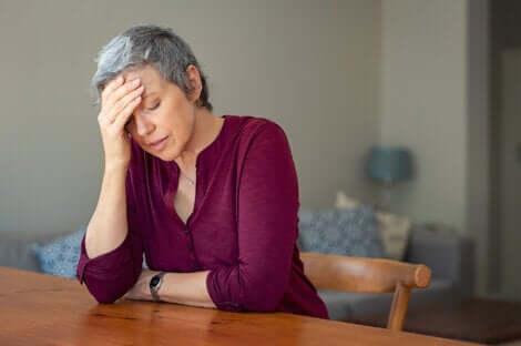 La fatigue d'une femme.