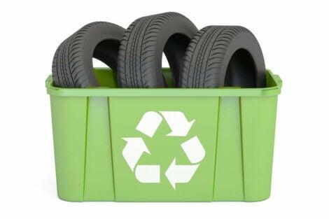 Comment recycler les pneus.