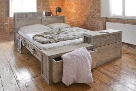 Un type de lit avec des rangements.