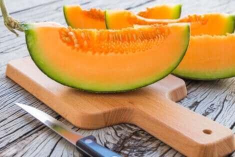 Une tranche de melon.