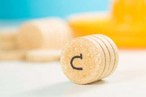 Pastilles de vitamine C.