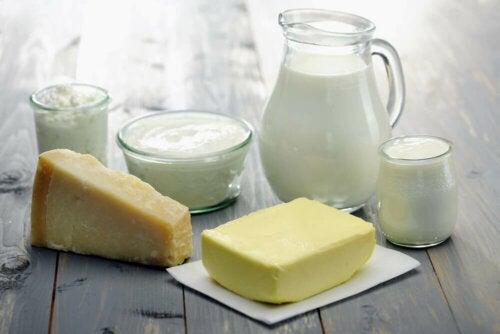 Des produits laitiers.
