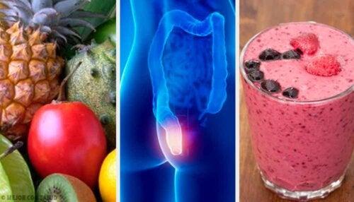 Alimentation adaptée en cas d'hémorroïdes.