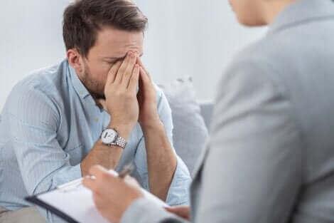 La thérapie psychologique d'un homme.
