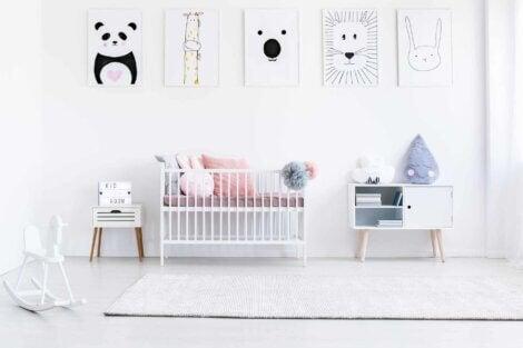 La chambre d'un bébé.