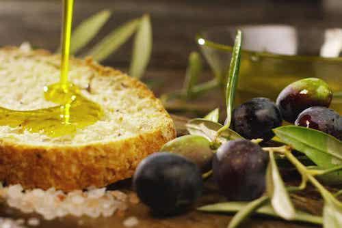 L'huile pour le pain de cristal.