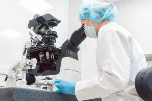 Recherche dans un laboratoire.
