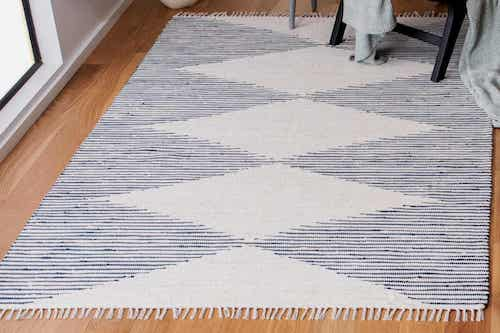 Le tapis à franges.