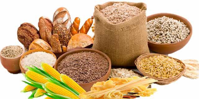 Aliments riches en glucides.