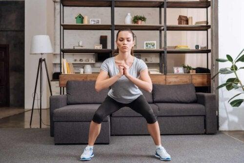 La concentration pour faire des squats.