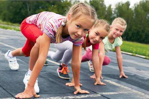 Les enfants et l'exercice sportif.