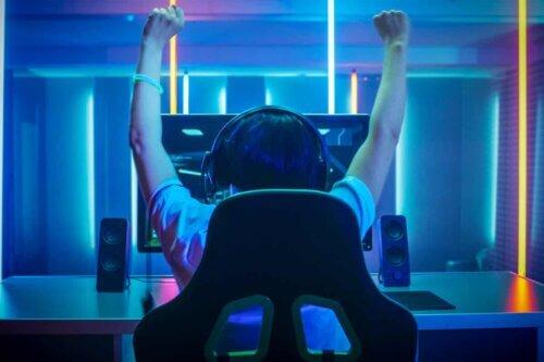 Un gamer qui a gagné sa partie.