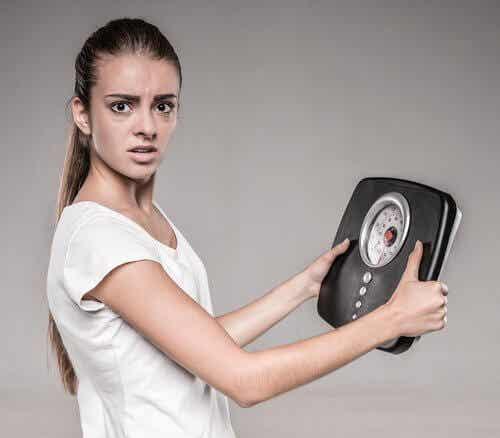 La perte de poids chez une femme.