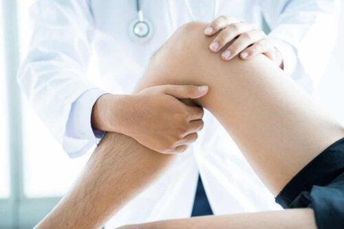 La physiothérapie du genou.