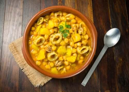Pois chiches aux calamars : recette simple et saine