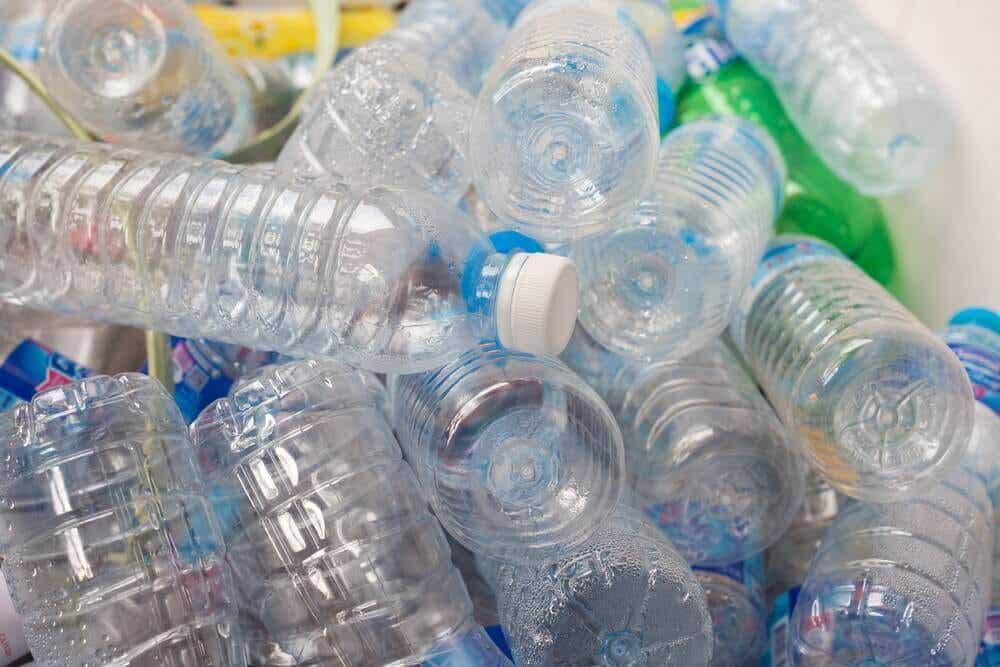 Des bouteilles en plastique.