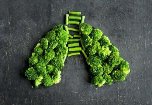 Les aliments contre l'inflammation pulmonaire