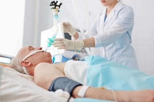 Un patient hospitalisé.