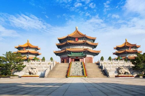 Un temple chinois.